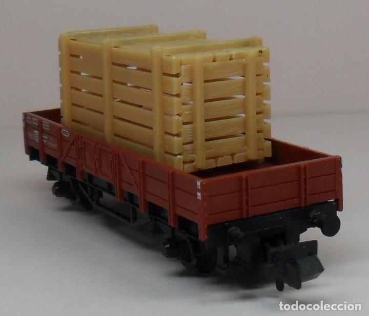 Trenes Escala: FLEISCHMANN N - Ref. 8200 - Vagón de borde bajo con carga - Caja original - Foto 7 - 89624004