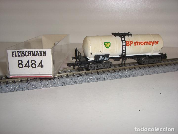 FLEISCHMANN N CISTERNA BP 8484 ENVEJECIDO (CON COMPRA DE 5 LOTES O MAS ENVÍO GRATIS) (Juguetes - Trenes a Escala N - Fleischmann N)
