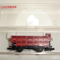 Trenes Escala: VAGON DE MERCANCIAS CON GARITA FLEISCHMANN ESCALA N. Lote 91666820