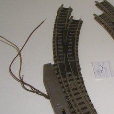 Trenes Escala: FLEISCHMANN N DESVIO ELÉCTRICO CURVO A DCHA (CON COMPRA DE 5 LOTES O MAS ENVÍO GRATIS). Lote 92052915