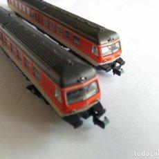 Trenes Escala: FLEISCHMANN N AUTOMOTOR ELÉCTRICO. CON 3 UNIDADES. LUZ. FUNCIONA.VÁLIDO IBERTREN 2N REF. 7430, 7432. Lote 92109260