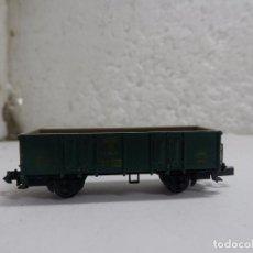 Trenes Escala: VAGÓN BORDE ALTO ESCALA N DE FLEISCHMANN . Lote 100656335