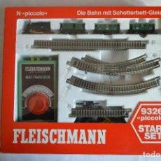 Trenes Escala: CONJUNTO 9326 PICCOLO. SET DE INICIACIÓN. ESCALA N. A ESTRENAR. FLEISCHMANN. ROMANJUGUETESYMAS.. Lote 103564083