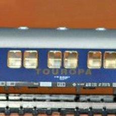 Trenes Escala: COCHE LITERAS 2ª CLASE TOUROPA DE LA DB CON LUZ DE FLEISCHMANN, REF. 890903. ESCALA N.. Lote 103984067