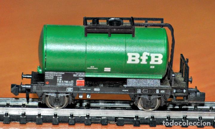 Trenes Escala: VAGÓN CISTERNA BfB DE FLEISCHMANN, EN ESCALA N. VÁLIDO IBERTREN. - Foto 2 - 104199531