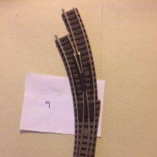 Trenes Escala: DESVIO MANUAL CURVO IZQUIERDO FLEISCHMANN N. Lote 105529427