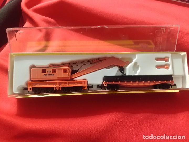 Trenes Escala: Grua vagon a estrenar escala N model power - Foto 2 - 111534627