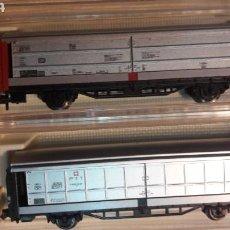 Trenes Escala: LOTE 2 VAGONES FLEISCHMANN N 8335 8336. Lote 114484612