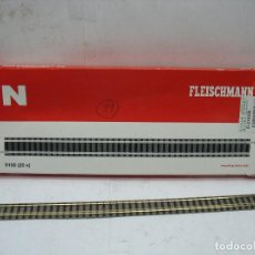 Trenes Escala: FLEISCHMANN REF: 9100 - LOTE DE 11 VÍAS RECTAS LARGAS ACCESORIOS PARA MAQUETA - ESCALA N. Lote 121132455