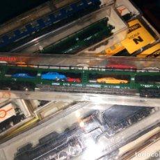 Trenes Escala: FLEISCHMAN - 8285 8285-LN CAR TRANSPORTER WITH 8 X CARS OF THE DB, EPOCH IV. Lote 122313151