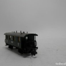 Trenes Escala: VAGÓN PASAJEROS 2 EJES ESCALA N DE FLEISCHMANN . Lote 127888991
