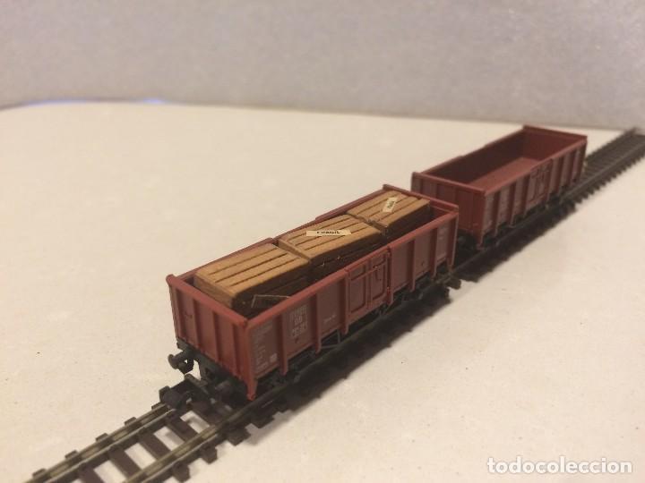 Trenes Escala: FLEISCHMANN escala N - 2 Vagones mercancias abiertos - Foto 3 - 128923039