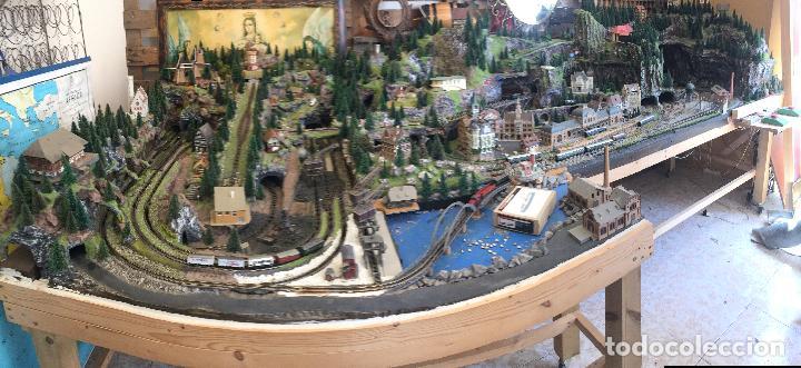 Trenes Escala: Extraordinaria y única MAQUETA DE TREN, gran tamaño, + de 3 mts de largo. Escala N. Una obra de arte - Foto 2 - 129289567