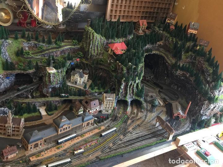 Trenes Escala: Extraordinaria y única MAQUETA DE TREN, gran tamaño, + de 3 mts de largo. Escala N. Una obra de arte - Foto 5 - 129289567
