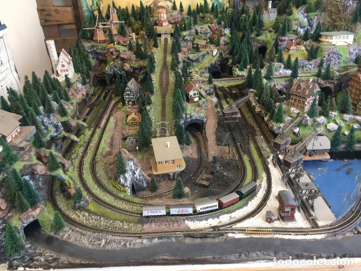 Trenes Escala: Extraordinaria y única MAQUETA DE TREN, gran tamaño, + de 3 mts de largo. Escala N. Una obra de arte - Foto 6 - 129289567