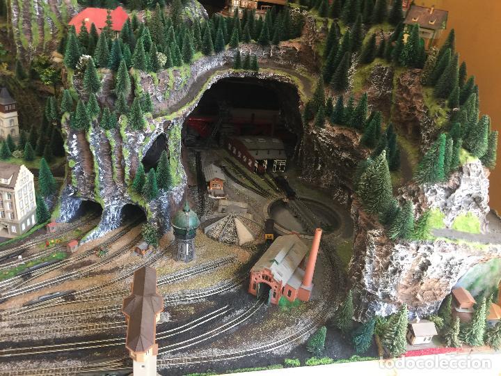 Trenes Escala: Extraordinaria y única MAQUETA DE TREN, gran tamaño, + de 3 mts de largo. Escala N. Una obra de arte - Foto 7 - 129289567