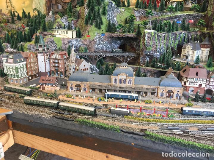 Trenes Escala: Extraordinaria y única MAQUETA DE TREN, gran tamaño, + de 3 mts de largo. Escala N. Una obra de arte - Foto 8 - 129289567