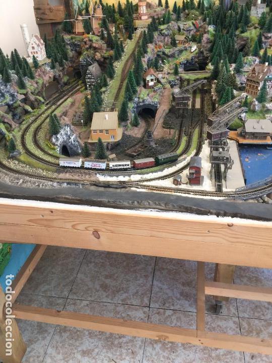 Trenes Escala: Extraordinaria y única MAQUETA DE TREN, gran tamaño, + de 3 mts de largo. Escala N. Una obra de arte - Foto 9 - 129289567