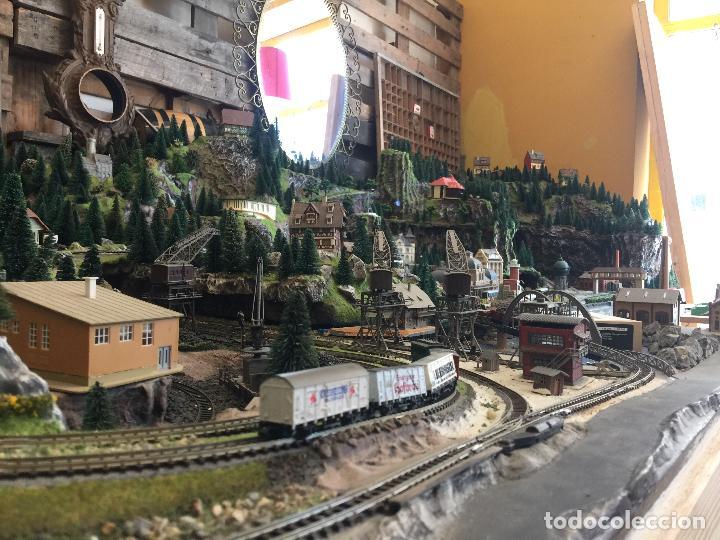 Trenes Escala: Extraordinaria y única MAQUETA DE TREN, gran tamaño, + de 3 mts de largo. Escala N. Una obra de arte - Foto 11 - 129289567
