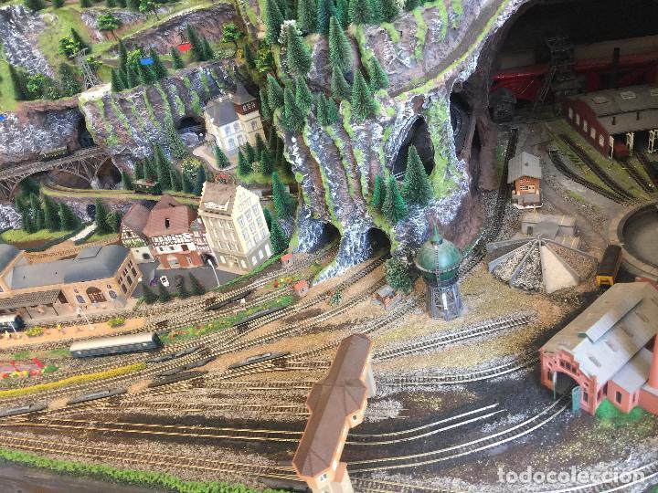 Trenes Escala: Extraordinaria y única MAQUETA DE TREN, gran tamaño, + de 3 mts de largo. Escala N. Una obra de arte - Foto 12 - 129289567