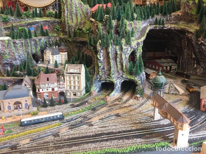 Trenes Escala: Extraordinaria y única MAQUETA DE TREN, gran tamaño, + de 3 mts de largo. Escala N. Una obra de arte - Foto 13 - 129289567