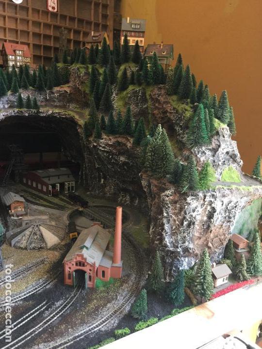 Trenes Escala: Extraordinaria y única MAQUETA DE TREN, gran tamaño, + de 3 mts de largo. Escala N. Una obra de arte - Foto 14 - 129289567