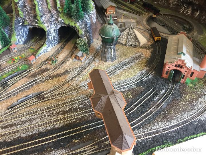 Trenes Escala: Extraordinaria y única MAQUETA DE TREN, gran tamaño, + de 3 mts de largo. Escala N. Una obra de arte - Foto 16 - 129289567