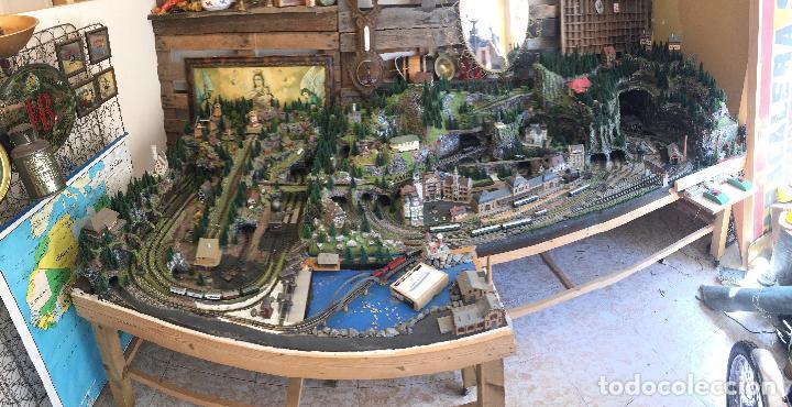 Trenes Escala: Extraordinaria y única MAQUETA DE TREN, gran tamaño, + de 3 mts de largo. Escala N. Una obra de arte - Foto 19 - 129289567
