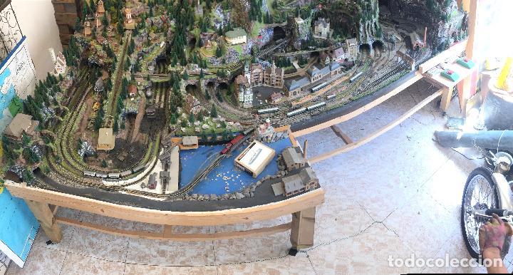 Trenes Escala: Extraordinaria y única MAQUETA DE TREN, gran tamaño, + de 3 mts de largo. Escala N. Una obra de arte - Foto 20 - 129289567