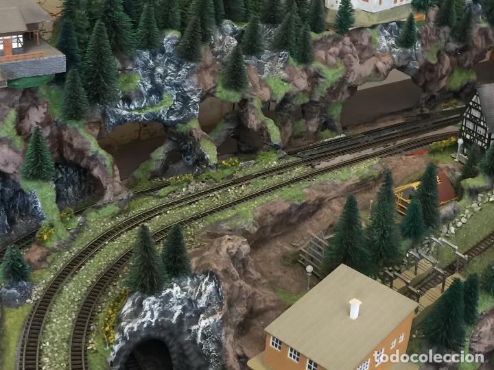 Trenes Escala: Extraordinaria y única MAQUETA DE TREN, gran tamaño, + de 3 mts de largo. Escala N. Una obra de arte - Foto 23 - 129289567