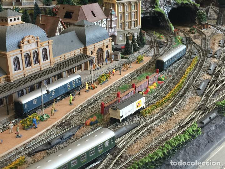 Trenes Escala: Extraordinaria y única MAQUETA DE TREN, gran tamaño, + de 3 mts de largo. Escala N. Una obra de arte - Foto 27 - 129289567