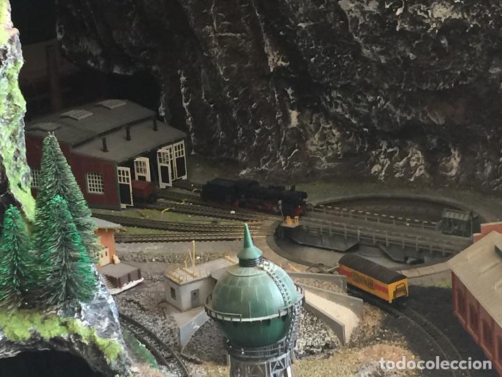 Trenes Escala: Extraordinaria y única MAQUETA DE TREN, gran tamaño, + de 3 mts de largo. Escala N. Una obra de arte - Foto 30 - 129289567