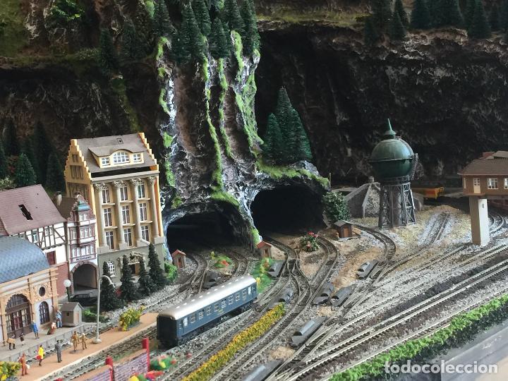 Trenes Escala: Extraordinaria y única MAQUETA DE TREN, gran tamaño, + de 3 mts de largo. Escala N. Una obra de arte - Foto 31 - 129289567