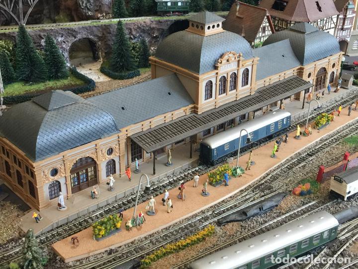 Trenes Escala: Extraordinaria y única MAQUETA DE TREN, gran tamaño, + de 3 mts de largo. Escala N. Una obra de arte - Foto 36 - 129289567