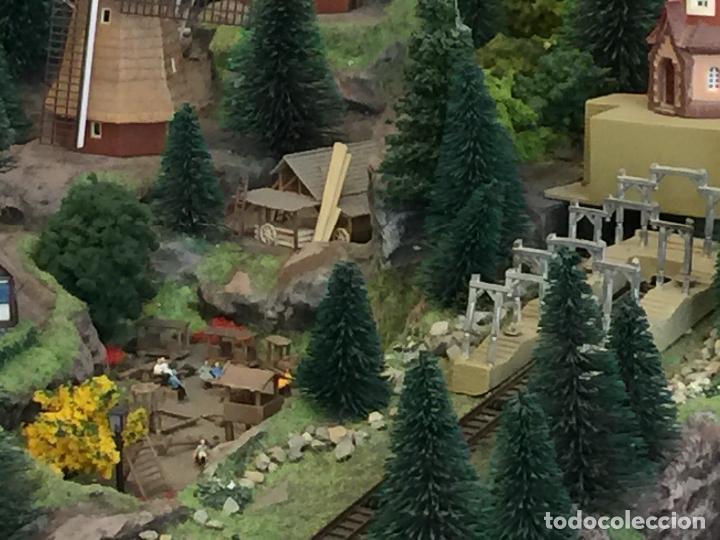 Trenes Escala: Extraordinaria y única MAQUETA DE TREN, gran tamaño, + de 3 mts de largo. Escala N. Una obra de arte - Foto 42 - 129289567
