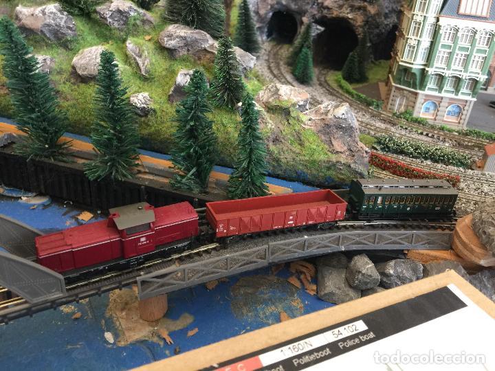 Trenes Escala: Extraordinaria y única MAQUETA DE TREN, gran tamaño, + de 3 mts de largo. Escala N. Una obra de arte - Foto 46 - 129289567