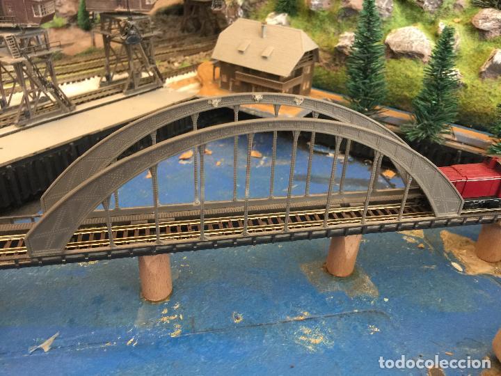 Trenes Escala: Extraordinaria y única MAQUETA DE TREN, gran tamaño, + de 3 mts de largo. Escala N. Una obra de arte - Foto 47 - 129289567