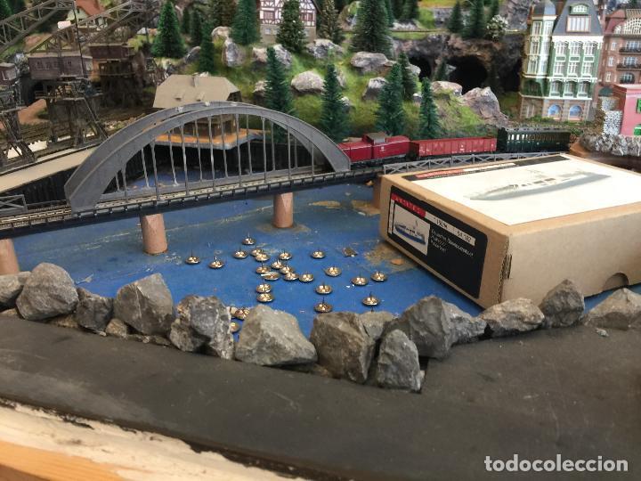 Trenes Escala: Extraordinaria y única MAQUETA DE TREN, gran tamaño, + de 3 mts de largo. Escala N. Una obra de arte - Foto 49 - 129289567