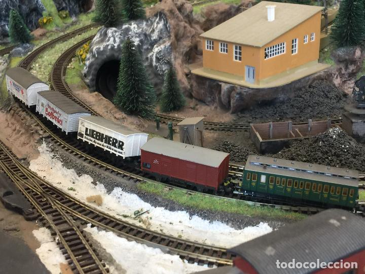 Trenes Escala: Extraordinaria y única MAQUETA DE TREN, gran tamaño, + de 3 mts de largo. Escala N. Una obra de arte - Foto 54 - 129289567