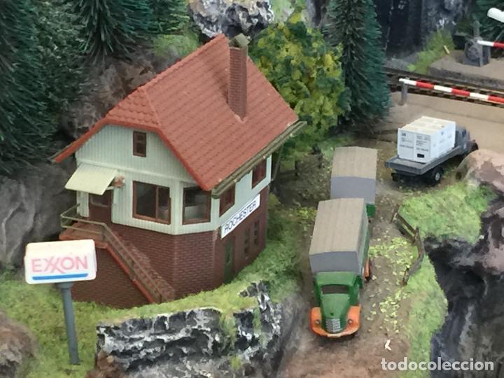 Trenes Escala: Extraordinaria y única MAQUETA DE TREN, gran tamaño, + de 3 mts de largo. Escala N. Una obra de arte - Foto 57 - 129289567