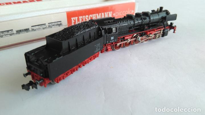Trenes Escala: FLEISCHMANN N LOCOMOTORA VAPOR CON TENDER, EN CAJA. VÁLIDA IBERTREN 2N - Foto 2 - 132781478