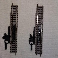 Trenes Escala: PAREJA DE 2 DESENGANCHADORES MANUALES FLEISCHMANN PICCOLO 9114 ESCALA N. 111 MM.. Lote 136133702