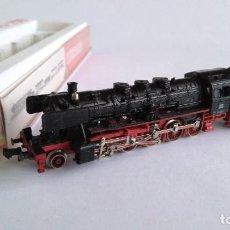 Trenes Escala: FLEISCHMANN N PICCOLO LOCOMOTORA VAPOR CON TENDER DE LA DB. EN CAJA.VÁLIDA IBERTREN 2N. Lote 139240110