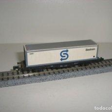 Trenes Escala: FLEISCHMANN N PORTACONTAINER SEATRAIN (CON COMPRA DE CINCO LOTES O MAS ENVÍO GRATIS). Lote 140014570