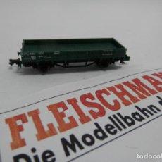 Trenes Escala: VAGÓN BORDE BAJO ESCALA N DE FLEISCHMANN . Lote 140034890