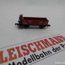 Trenes Escala: VAGÓN BORDE BAJO CON GARITA ESCALA N DE FLEISCHMANN. Lote 140034934