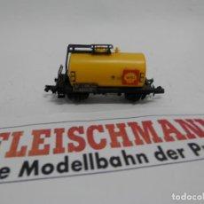 Trenes Escala: VAGÓN CISTERNA ESCALA N DE FLEISCHMANN . Lote 140035658
