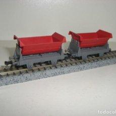 Trenes Escala: FLEISCHMANN N 2 VAGONETAS DE MINAS(CON COMPRA DE CINCO LOTES O MAS ENVÍO GRATIS). Lote 140153174