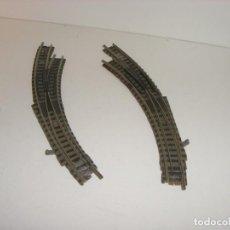Trenes Escala: FLEISCHMANN N 2 DESVÍOS MANUALES CURVOS (CON COMPRA DE CINCO LOTES O MAS ENVÍO GRATIS). Lote 142588238