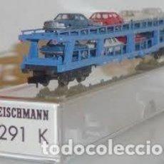 Trenes Escala: TREN,FLEISCHMANN 8291 K,VAGÓN PORTACOCHES, DB 518098-80053-5. Lote 142802242